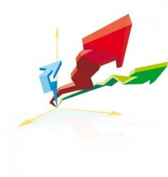 3d progress vector image