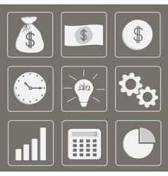 Business icons Set Grey vector image vector image