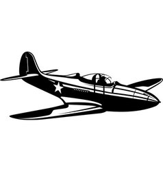 Fighter Aircobra vector image