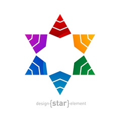 Original colorful Star of David on white ba vector image