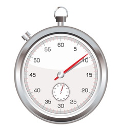 silver stop watch vector image vector image