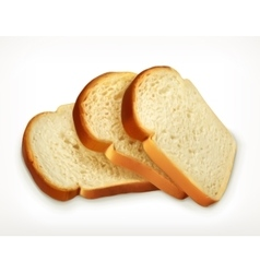 Sliced fresh wheat bread vector image vector image
