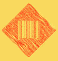 bar code sign red scribble icon obtained vector image