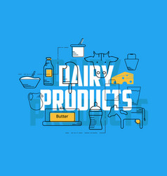 dairy products concept vector image