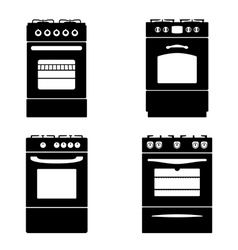 Gas stove vector image vector image