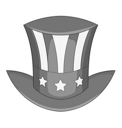 independence day hat icon monochrome vector image