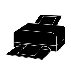 printer icon in black style isolated on white vector image
