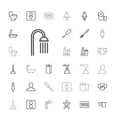 33 toilet icons vector