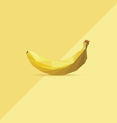 3d origami low polygon banana vector image
