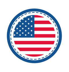 4th july independence day american flag round vector image