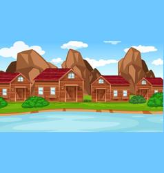 a countryside village scene vector image