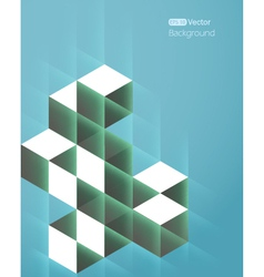Abstract background with cube vector image vector image