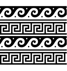 Ancient greek seamless pattern - traditional vector