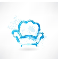 armchair grunge icon vector image