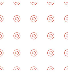 Arrow right icon pattern seamless white background vector