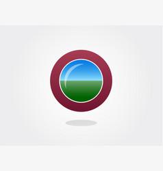 Attitude indicator icon design vector