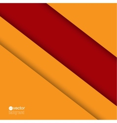 Background of red and orange strips of paper vector image