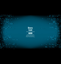 binary code background high-tech matrix vector image