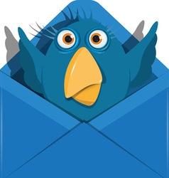Bird in the envelope vector image