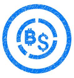 Bitcoin financial diagram rounded grainy icon vector