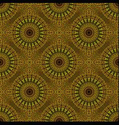 Bohemian golden gravel mandala mosaic pattern vector