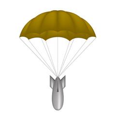 bomb at brown parachute vector image
