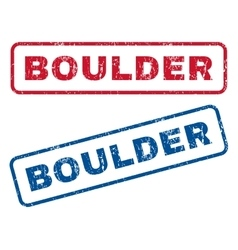Boulder Rubber Stamps vector