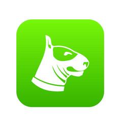 bull terrier dog icon digital green vector image
