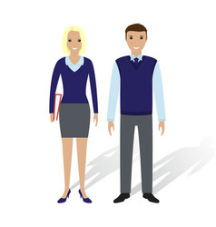 business people man and woman office employees vector image