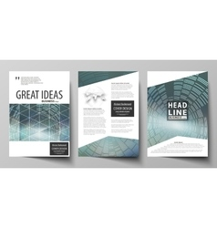 Business templates for brochure flyer booklet or vector
