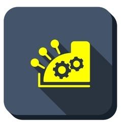 Cash Register Longshadow Icon vector