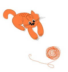 Cat and wool vector
