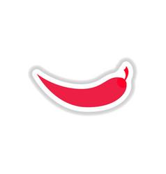 Chilli pepper sticker vector