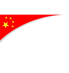 Chinese flag corner frame background banner vector