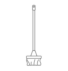 cleaning mop icon outline style vector image