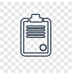 clipboard concept linear icon isolated on vector image