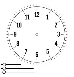 clock face round design for men blank display vector image