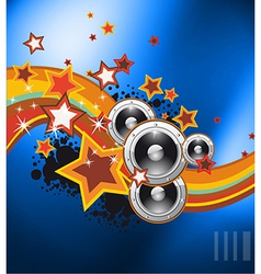 Club party flyer for music event vector image