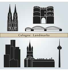 Cologne landmarks and monuments vector image