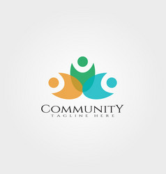 community logo designrelationship icon vector image