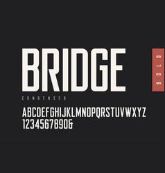 condensed bold retro sans serif typefaces vector image