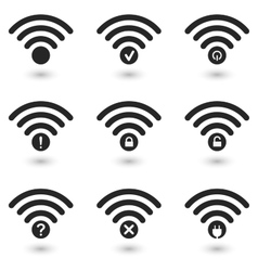 Creative WiFi Icons Set vector