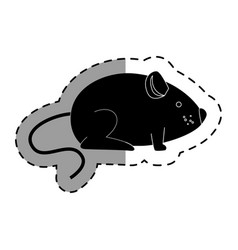 Cute little mouse isolated icon vector