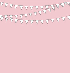 cute textile bunting flags for wedding birthday vector image