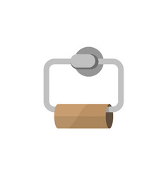 Empty toilet paper vector