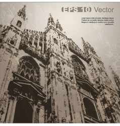 facade milan cathedral vector image