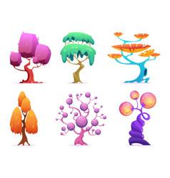 Fantasy tree fairytale garden plants glowing vector
