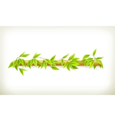 Foliage banner vector