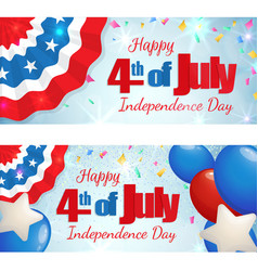 Fourth of july independence day horizontal banner vector