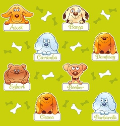 Funny dogs seamless pattern vector